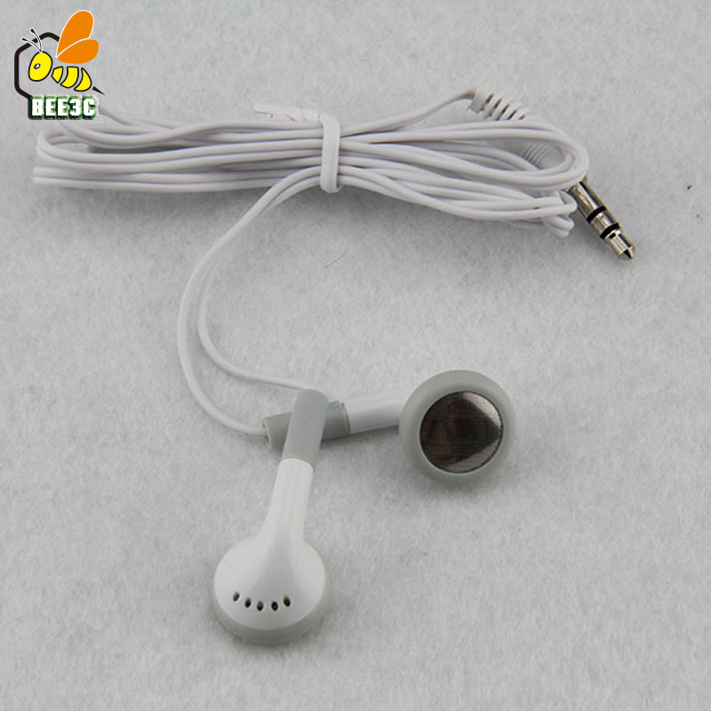 White Cheapest Disposable in ear Earphone Headset Earbuds for Party Museum Bus or Train Plane or