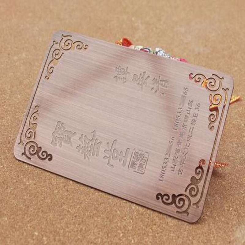 100Pcs /Lot Customized Stainless Vinatge Red Copper Metal Wedding ...