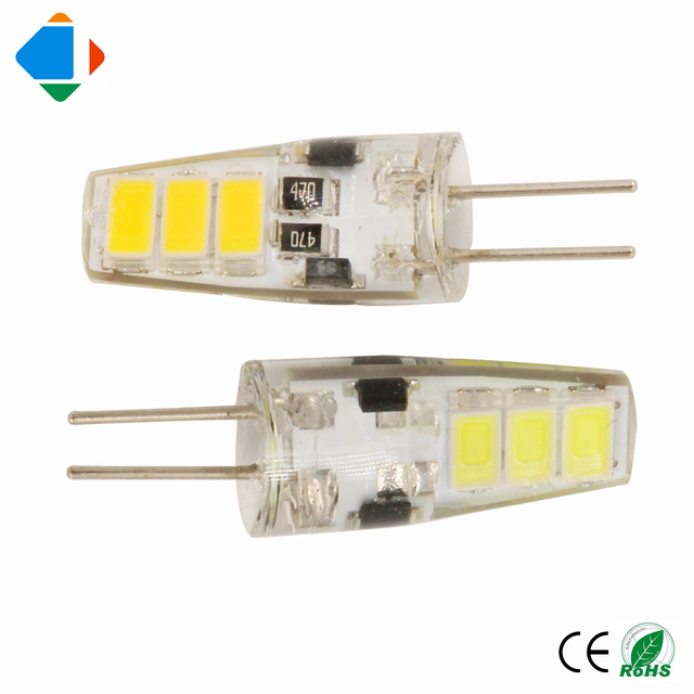 5x g4 led lamps 2w bulbs light ac dc 12 volt smd 5733 6leds high brightness corn spotlight. Black Bedroom Furniture Sets. Home Design Ideas