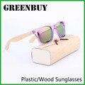 Clássico de Madeira de Bambu Óculos De Sol Dos Homens Do Vintage óculos de Sol Masculinos 2016 Marca Ray Óculos de Sol gafas de sol GB1004