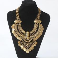 Крупное цыганское ожерелье с большим воротником, женское богемное этническое Макси колье, женское винтажное многослойное мощное ожерелье для женщин