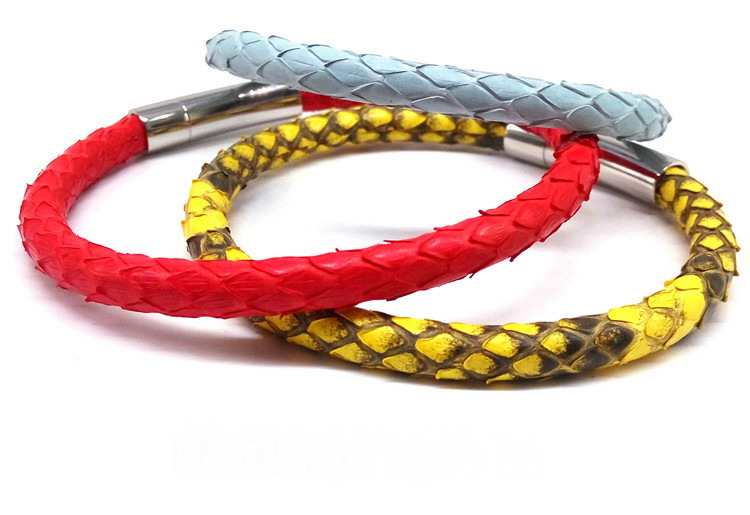 BC Luxury Bracelets Python մաշկի կաշվե ձեռնաշղթա - Նորաձև զարդեր - Լուսանկար 2