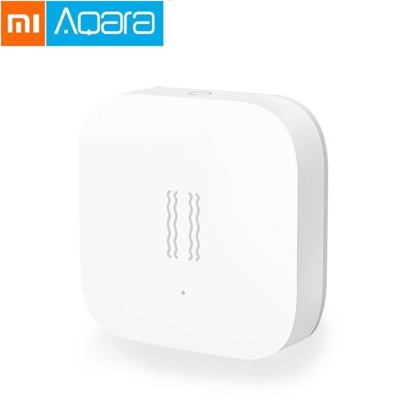 Xiao mi Aqara Smart vibración Shock Sensor mi jia movimiento inteligente Zigbee Sensor detección Monitor mi casa App internacional ver