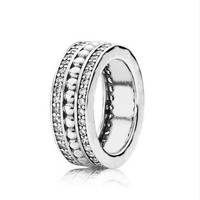 Wedding Jewelry Forever Brand Silver Rings With CZ Original 925 Sterling Silver Ring Jewelry For Women