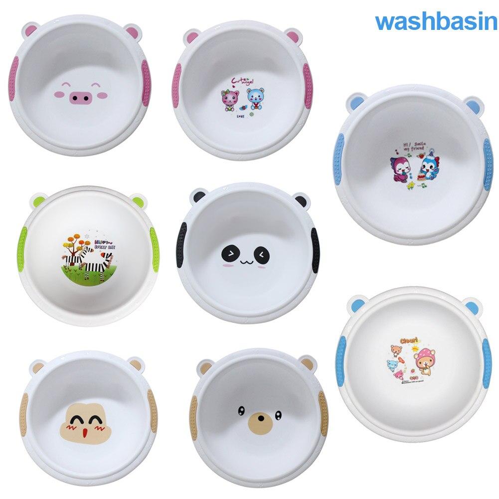 Baby Bath Basin Cartoon Cute Face Feet Wash Basin Thickened Baby Wash Hair Wash-basin M09
