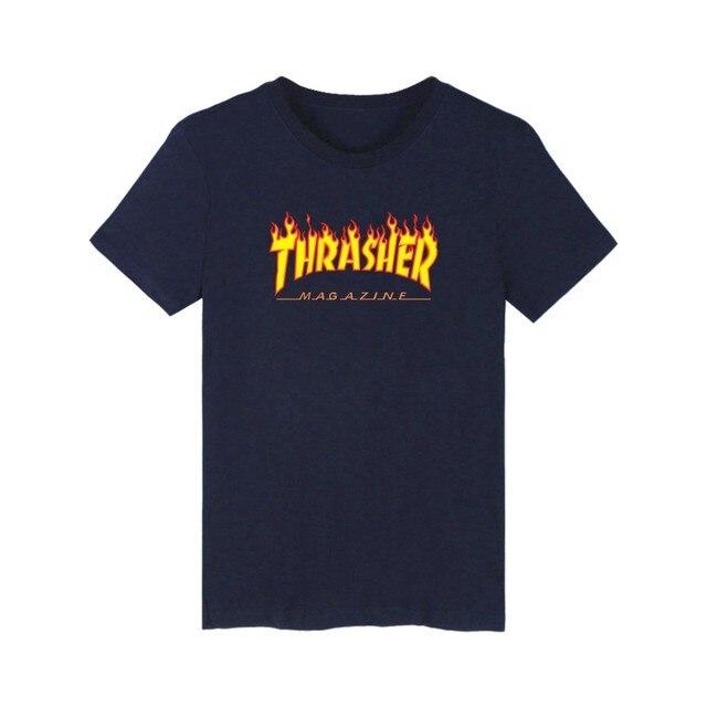 European Size Men Short T-Shirt Printed Thrasher Fashion Short Cotton Plus Size Xxl-4Xl New Brand Teenager Loose Tops Z30