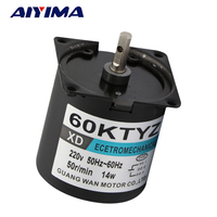 AIYIMA 60KTYZ Micro Gear Motor AC 220V 14W Large Torque Micro Slow Permanent Magnet Synchronous Motor Gear Motor