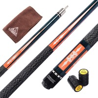 Cuesoul CSPC010 58 Inch Canadian Maple Wood 1 2 Jointed Pool Cue Billiard Cue 9 Ball
