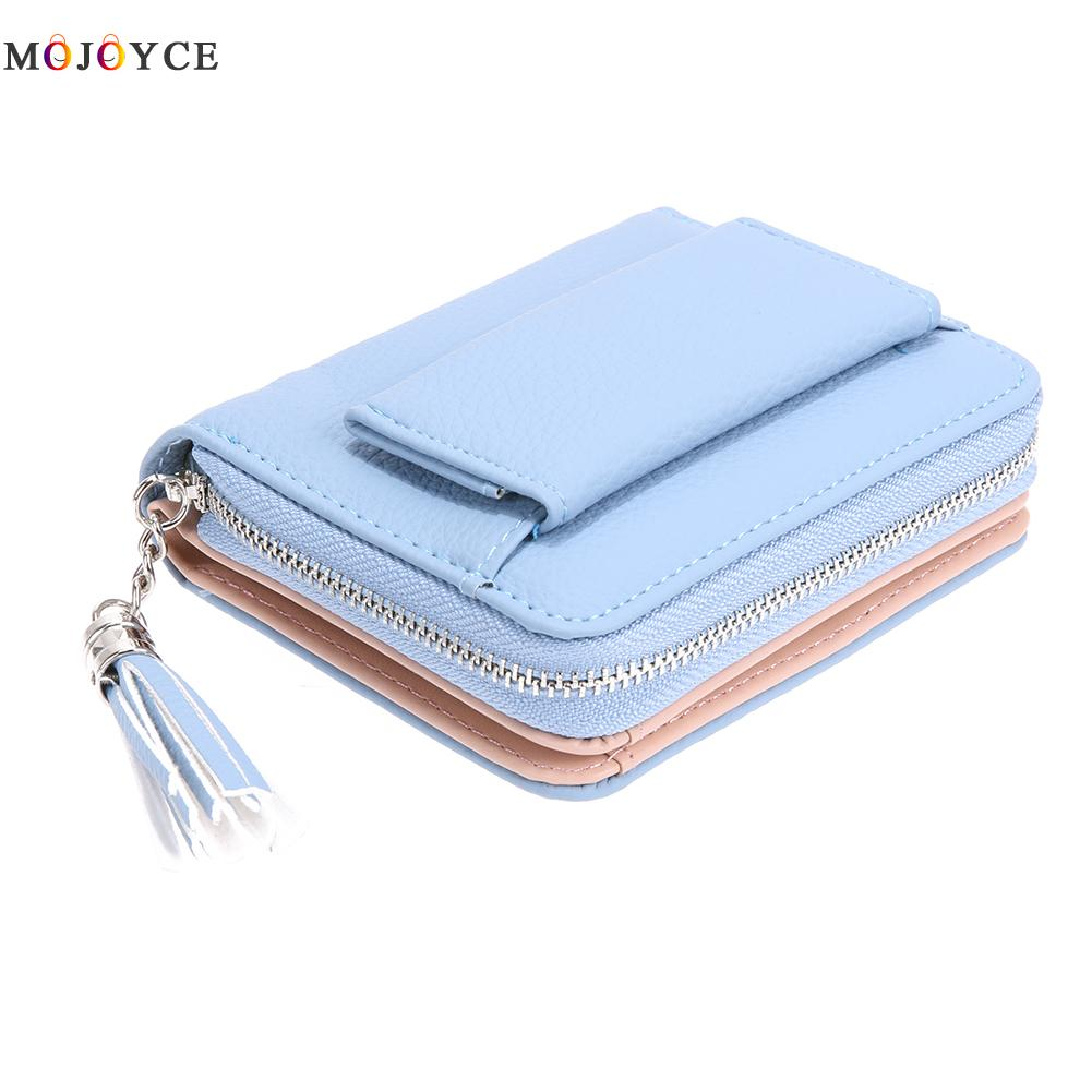 Brand Women Small Wallets Tassel Pendant Short Money Wallets PU Leather Lady Zipper Coin Pocket Purses Female Fashion Cardbag hnxzxb tassel pendant design small clutch wallets for women coin purses card holders invoice pocket pu leather female lady bag