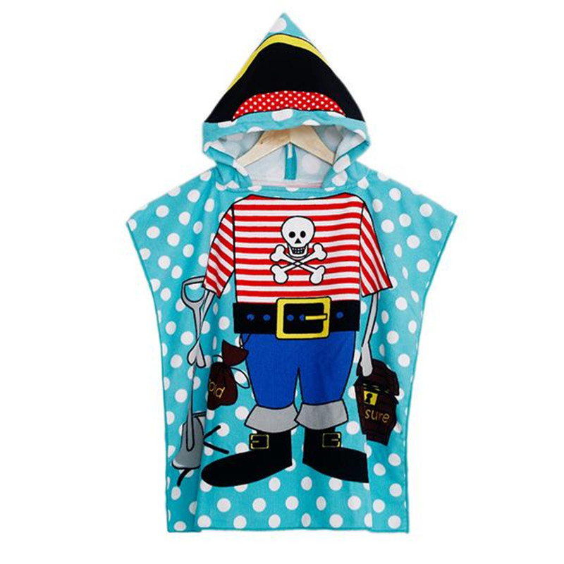 Polyester Baby Children Bathroom Robes Shower Towels Cartoon Hooded Soft Washcloth Blankets Beach