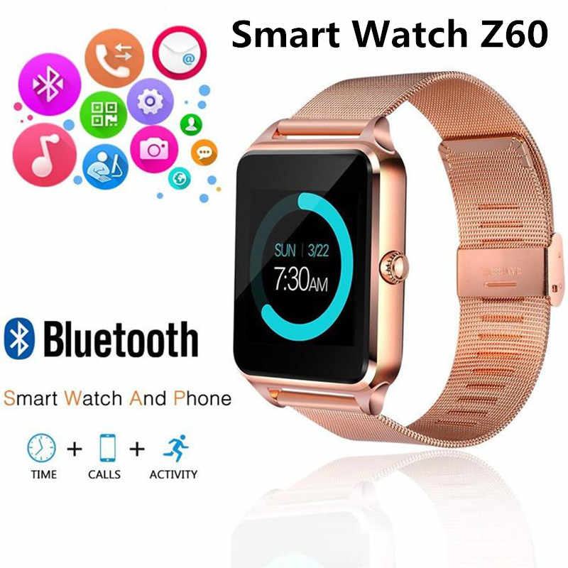 Z60 Smart Watch GT08 Plus Metal Strap Bluetooth Wrist Smartwatch Support Camera Sim TF Card Android&IOS PK Y1 S8 X7D DZ09 V8 A1