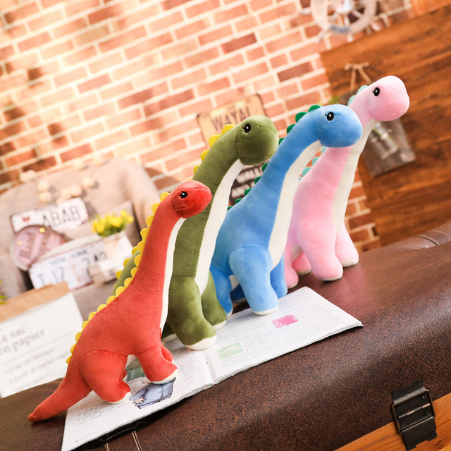 50~120cm Cuddly Dinosaur Tanystropheus Stuffed Toy Plush Dino Blue/Wine Red/Green/Pink Girls Boys Xmas Plushie Gift 2