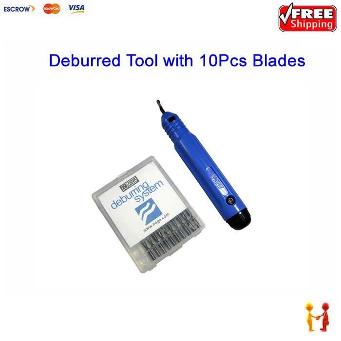 1pcs of NB1000 Deburring Blades Rapid Burr Tool Cutting tools with 10Pcs NOGA Original BS1010 2x12mm lathe parting cutting milling tool holder with 5 blades 200mm
