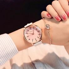 Полигональный циферблат дизайн женские часы Роскошная мода платье кварцевые часы ulzzang популярный бренд белые Наручные часы с кожаным ремешком