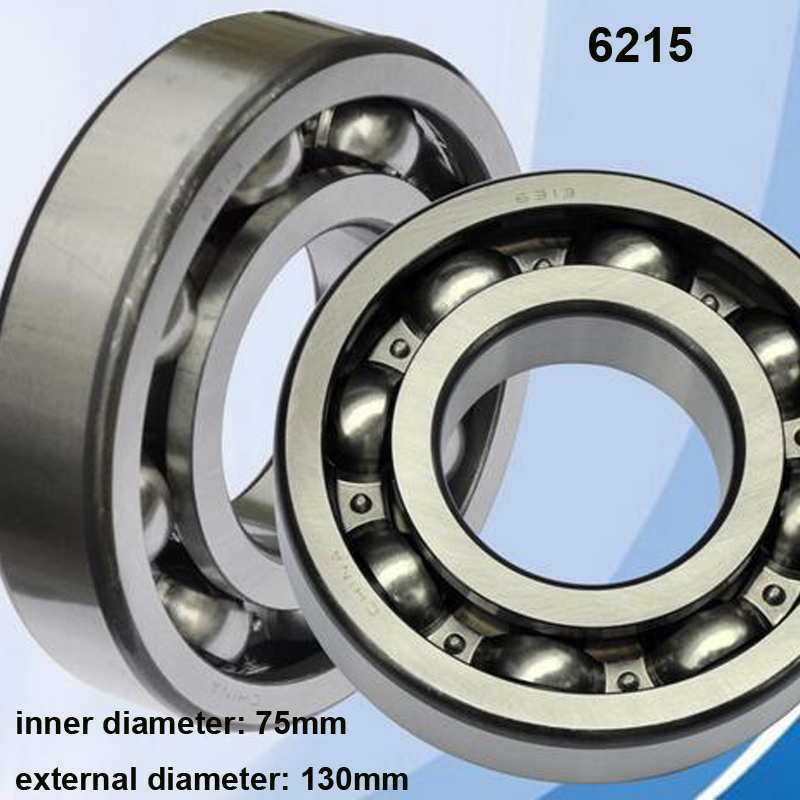 High Quality 1Pcs/Lot 6215 Steel Material Big Annular Grooved Ball Bearing Open Type Bearing 75*130*25MM high quality 1 75