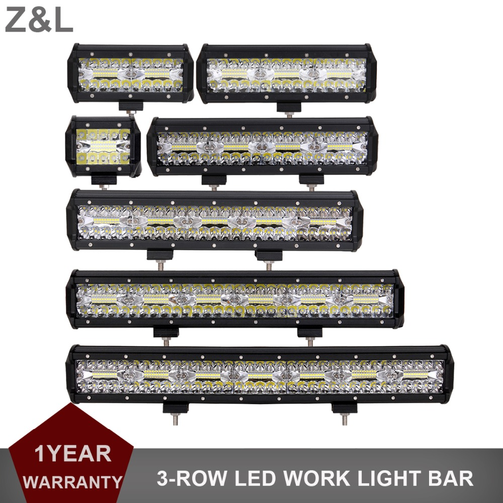 OFFROAD 4 6.5 9 12 15 17.5 20 INCH LED WORK LIGHT BAR 12V 24V CAR BOAT 4X4 4WD ATV MOTORCYCLE UTE TRUCK SUV TRAILER COMBO LAMP
