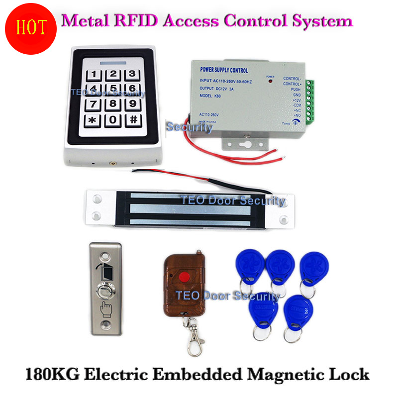 2000users Metal Standalone Access Controller With Keypad 180KG Embedded Electric Lock Maglocks Stainless Steel Push Button