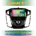 """8 """"Quad Core 1024*600 Android 5.1.1 Автомобильный DVD Плеер для Ford Focus3 фокус 3 2012 2013 2014 2015 с Радио GPS BT WiFi"""