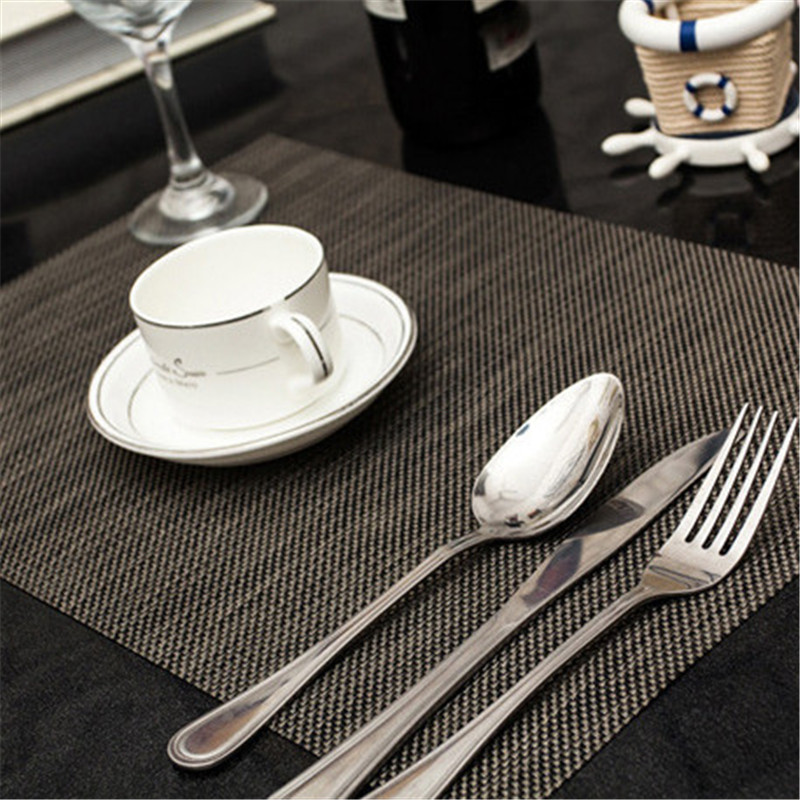 4pcslot 4530cm solid placemat elegant pvc dining table mat pad slip resistant mats kitchen tools coffee tea drinks pads. beautiful ideas. Home Design Ideas