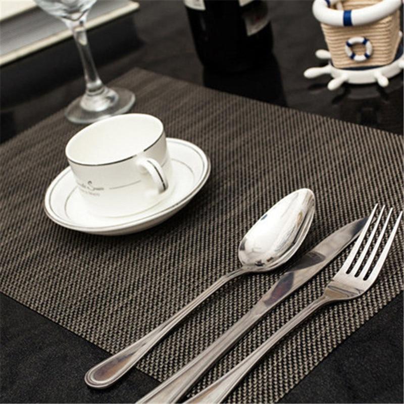 4pcs Lot 4530cm Solid Placemat Elegant PVC Dining Table Mat Pad Slip