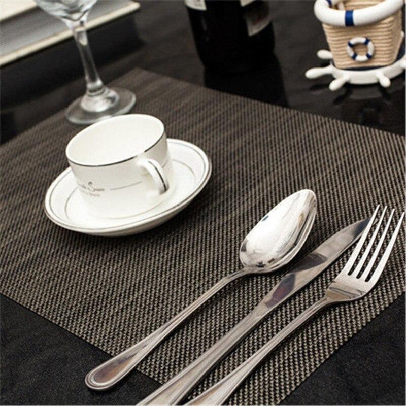 4pcslot 4530cm solid placemat elegant pvc dining table mat pad slip - Kitchen Table Mats