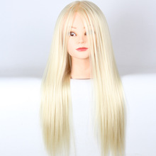 High Quality Hairdressing Practice Training Head White Hair Doll Cosmetology Mannequin Heads Women Hairdresser Manikin Sale