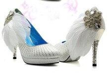 Sexy Platform High Heels Diamond Rhinestone Wedding Bridal Shoes Lady's Party Evening Dress Shoes New Fashion Woman Shoes