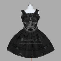 Lolita Dress Gothic Pink Francaise Sundress Cosplay Costume With Bowknot Lace Decorated Sleeveless Fast Ball Gown Halloween
