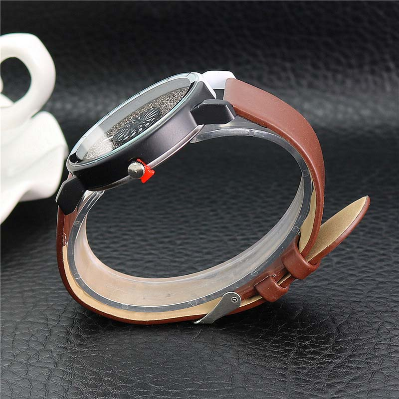 Unik Kvinnor Armband Klocka Enkel Casual Dubbelfärg Flash Dial Watch - Damklockor - Foto 6