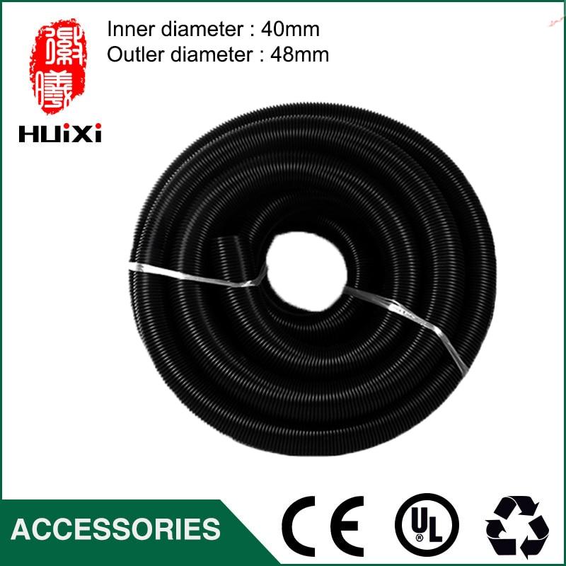 2m Diameter 40mm Black Threaded hose with High Temperature Flexible EVA vacuum cleaner Hose of industrial Vacuum Cleaner