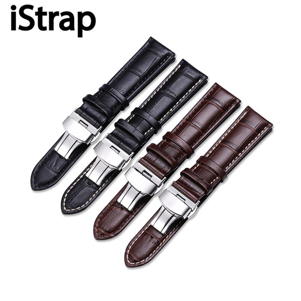 IStrap12-17mm 18mm 19mm 20mm 21mm 22mm Echtes Leder Alligator Uhrenarmband-bügel für Tissot für Casio Diesel für Armband