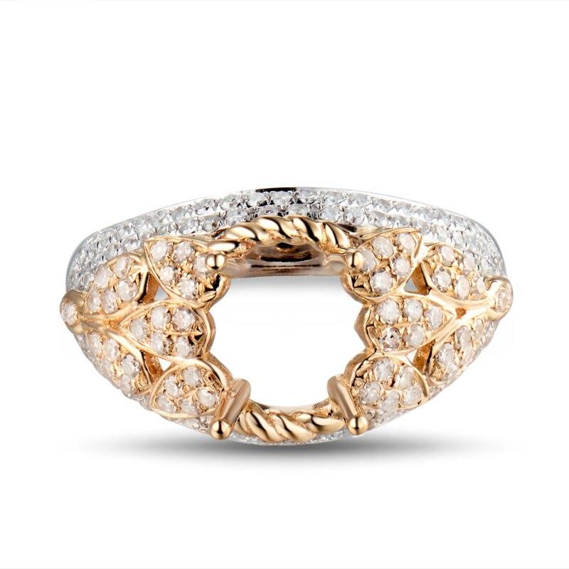 타원형 7x9mm 세미 마운트 설정 14kt 두 톤 골드 다이아몬드 순도 결혼 반지 wu298-에서반지부터 쥬얼리 및 액세서리 의  그룹 2