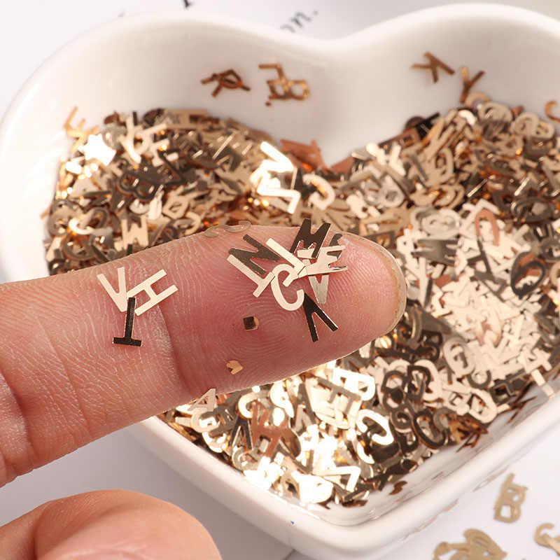 10 г/упак. ультратонкие 4 мм буквенные формы блёстки набор глиттеров для ногтей Лазерная Eo-Friendly блестка из ПЭТ лак для ногтей материал