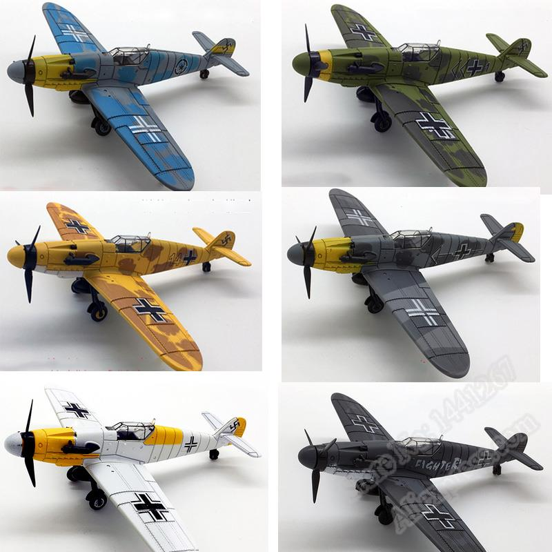 6 PCS Set 4D Plastic Assembled Airplane World War II Germany Fighter 1 72 Scale Assembling