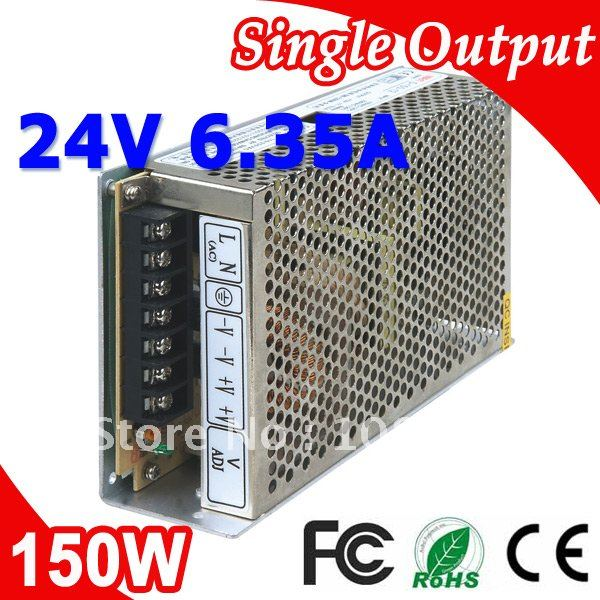 S-150-24 LED Switching Power Supply 110V 220V AC to DC 24V 6.5A 150W Output ac110 220v dc 24v 6 5a 150w double output switch power supply for led striplight xwj