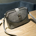 Fashion handbags shell bag handbag plaid chain shoulder bag Messenger bag simple solid color