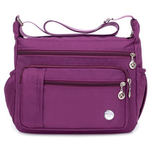 цена на Nylon Shoulder Bag Solid Waterproof Oxford Hobos Brand High Quality Joker Messenger Bag Rural Style More Zippers Package Women
