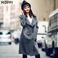 Women Long Trench Coat New 2016 Autumn Trenchcoat Long Sleeve Plus Size Double Breasted Lapel Collar Windcoat Abrigos Mujer