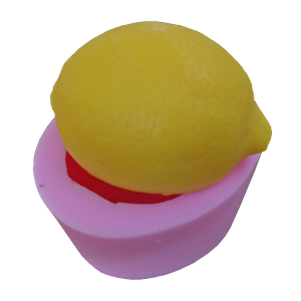 Lemon Design 3D Soap Mold Food Grade Cake Mold Silicone Mold For Soap Making