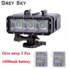 الذهاب برو الغوص مصباح يدوي LED فلاش فيديو ضوء ل GoPro بطل 5 4/3 + ، SJCAM SJ4000 sj 4000 شاومي يي 4k 2 كاميرا الملحقات