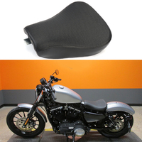 For Harley 883 1200 Sportster XL 48 72 Synthetic Leather Pillow Solo Seat Front Driver 2010 2011 2012 2013 2014 2015