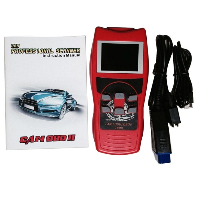 US $99 98 |Best Fixd Review Obd2 Qr Code Online Reader Lcd Screen New CAN  Protocol Scanner V800-in Code Readers & Scan Tools from Automobiles &