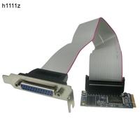 mini PCI e to IEEE 1284 Parallel Card MINI PCI Express to DB25 Printer LPT Port Adapter for mini ITX Mini pcie converter card