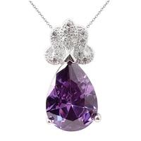 Pear Shape 10x14 Purple Amethyst Lady Solid 925 Sterling Silver Pendant Nice Design NAL P035