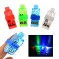 40 pcs de Multi-cor LED Brilhante a laser Dedo Anelar Lâmpada Luz Beams Tocha para a Festa de Páscoa KTV Bar Gadgets Toy Kids presente Venda Quente