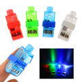 40pcs Multi-color Bright LED laser Finger Ring Light Lamp Beams Torch For Easter Party KTV Bar Gadgets Kids Toy gift Hot Selling