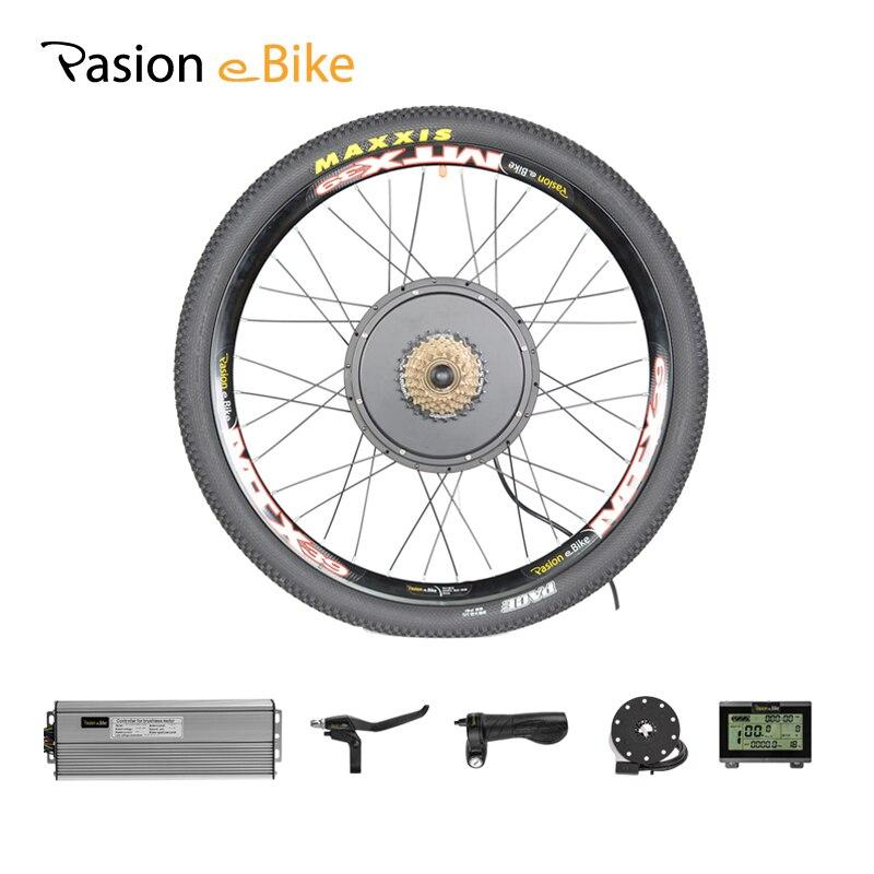 PASION Motore E Moto Kit 48 V 1000 W kit di Conversione Bicicletta Elettrica MTB Bici Elettrica Posteriore Del Motore Kit 1000 W Motore Elettrico Ruota