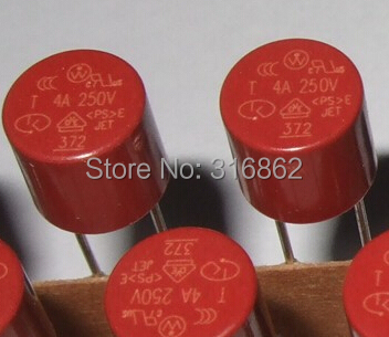 T4A  250V  Miniature Micro Slow Blow Fuse 20PS/LOT Free Shipping electronic Components kit