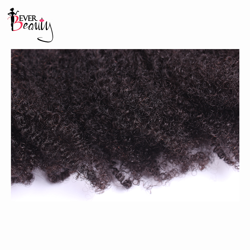 4B 4C Afro Kinky Curly Clip In Human Hair Extensions Brazilian Remy Hair 100% Human Natural Clip Ins Hair Bundle Ever Beauty - 5