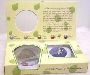 Image 2 - Qingmos 10 cajas de colgante de corazón y Perla para mujer, conjunto de regalo, gargantillas, collar, colgante, amor, ostra